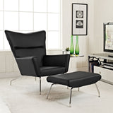 Modway Furniture Modern Class Leather Lounge Chair , Chairs - Modway Furniture, Minimal & Modern - 6