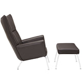 Modway Furniture Modern Class Leather Lounge Chair , Chairs - Modway Furniture, Minimal & Modern - 20
