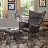 Modway Furniture Modern Class Leather Lounge Chair , Chairs - Modway Furniture, Minimal & Modern - 24