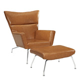Modway Furniture Modern Class Leather Lounge Chair Tan, Chairs - Modway Furniture, Minimal & Modern - 13