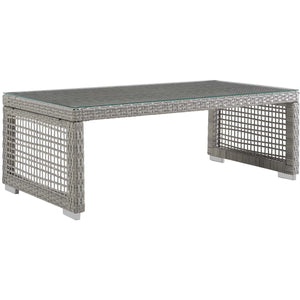 Modway Furniture Modern Aura Rattan Outdoor Patio Coffee Table - EEI-2919