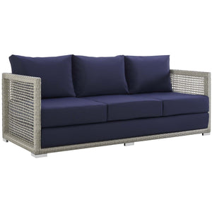 Modway Furniture Modern Aura Outdoor Patio Wicker Rattan Sofa - EEI-2923-Minimal & Modern