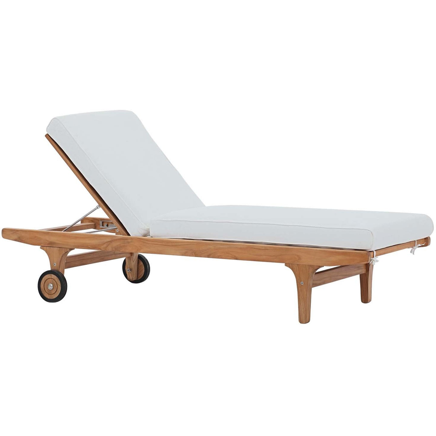 Modway Furniture Modern Saratoga Outdoor Patio Teak Chaise Lounge - EEI-2937