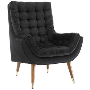 Modway Furniture Modern Suggest Button Tufted Upholstered Velvet Lounge Chair - EEI-3001