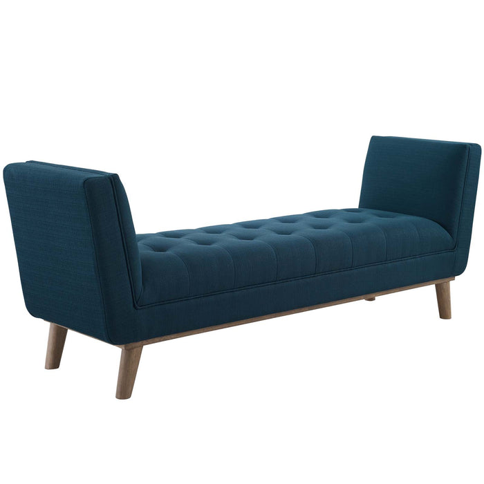 Modway Furniture Modern Haven Tufted Button Upholstered Fabric Accent Bench - EEI-3002