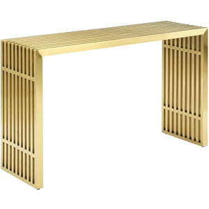 Modway Furniture Modern Gridiron Stainless Steel Console Table - EEI-3036-Minimal & Modern