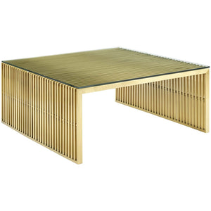 Modway Furniture Modern Gridiron Stainless Steel Coffee Table - EEI-3037-Minimal & Modern