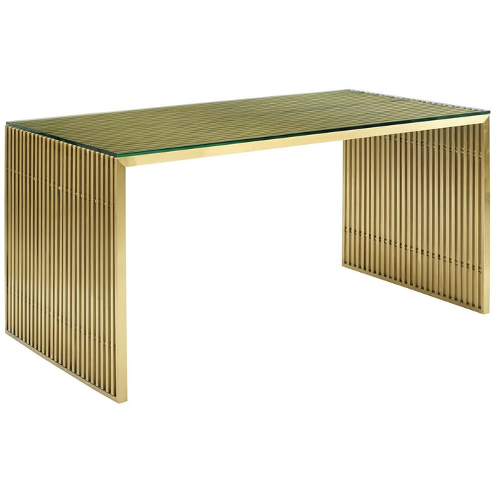 Modway Furniture Modern Gridiron Stainless Steel Dining Table - EEI-3038
