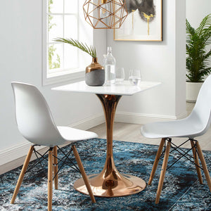 "Modway Furniture Modern Lippa 24"" Square Dining Table in Rose Gold - EEI-3219"