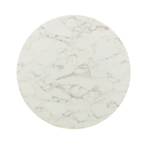 "Modway Furniture Modern Lippa 36"" Round Artificial Marble Dining Table - EEI-3223"