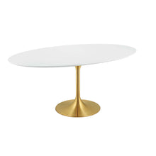 "Modway Furniture Modern Lippa 78"" Oval Wood Dining Table - EEI-3255"