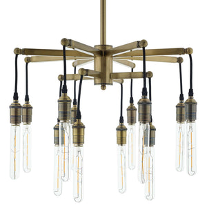 Modway Furniture Modern Resolve Antique Brass Ceiling Light Pendant Chandelier - EEI-3274
