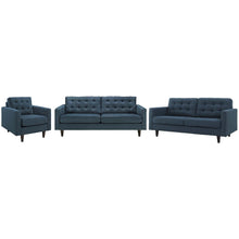 Modway Furniture Modern Empress Sofa, Loveseat and Armchair Set of 3 - EEI-3316