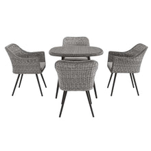 Modway Furniture Modern Endeavor 5 Piece Outdoor Patio Wicker Rattan Dining Set - EEI-3320