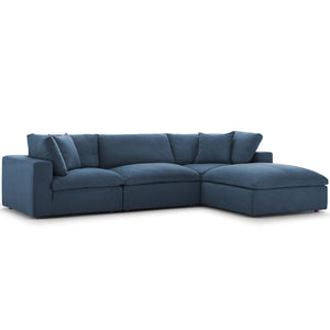 Modway Furniture Modern Commix Down Filled Overstuffed 4 Piece Sectional Sofa Set - EEI-3356