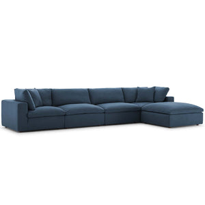 Modway Furniture Modern Commix Down Filled Overstuffed 5 Piece Sectional Sofa Set - EEI-3358