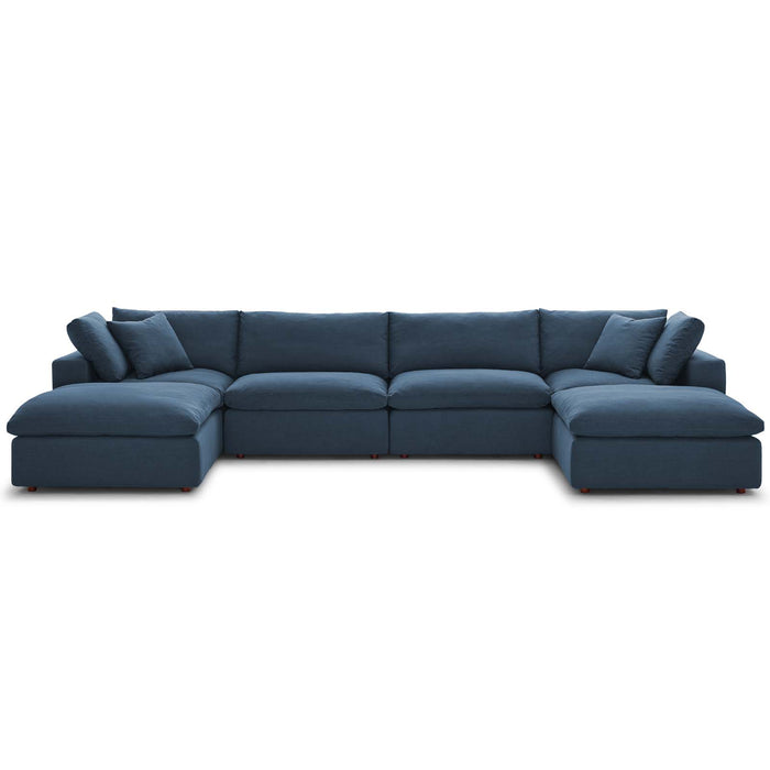 Modway Furniture Modern Commix Down Filled Overstuffed 6 Piece Sectional Sofa Set - EEI-3362