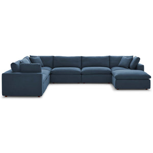 Modway Furniture Modern Commix Down Filled Overstuffed 7 Piece Sectional Sofa Set - EEI-3364