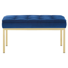 Modway Furniture Modern Loft Gold Stainless Steel Leg Medium Performance Velvet Bench - EEI-3402