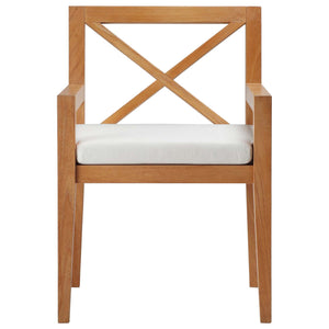 Modway Furniture Modern Northlake Outdoor Patio Premium Grade A Teak Wood Dining Armchair - EEI-3426