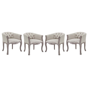 Modway Furniture Modern Crown Dining Armchair Upholstered Fabric Set of 4 - EEI-3469