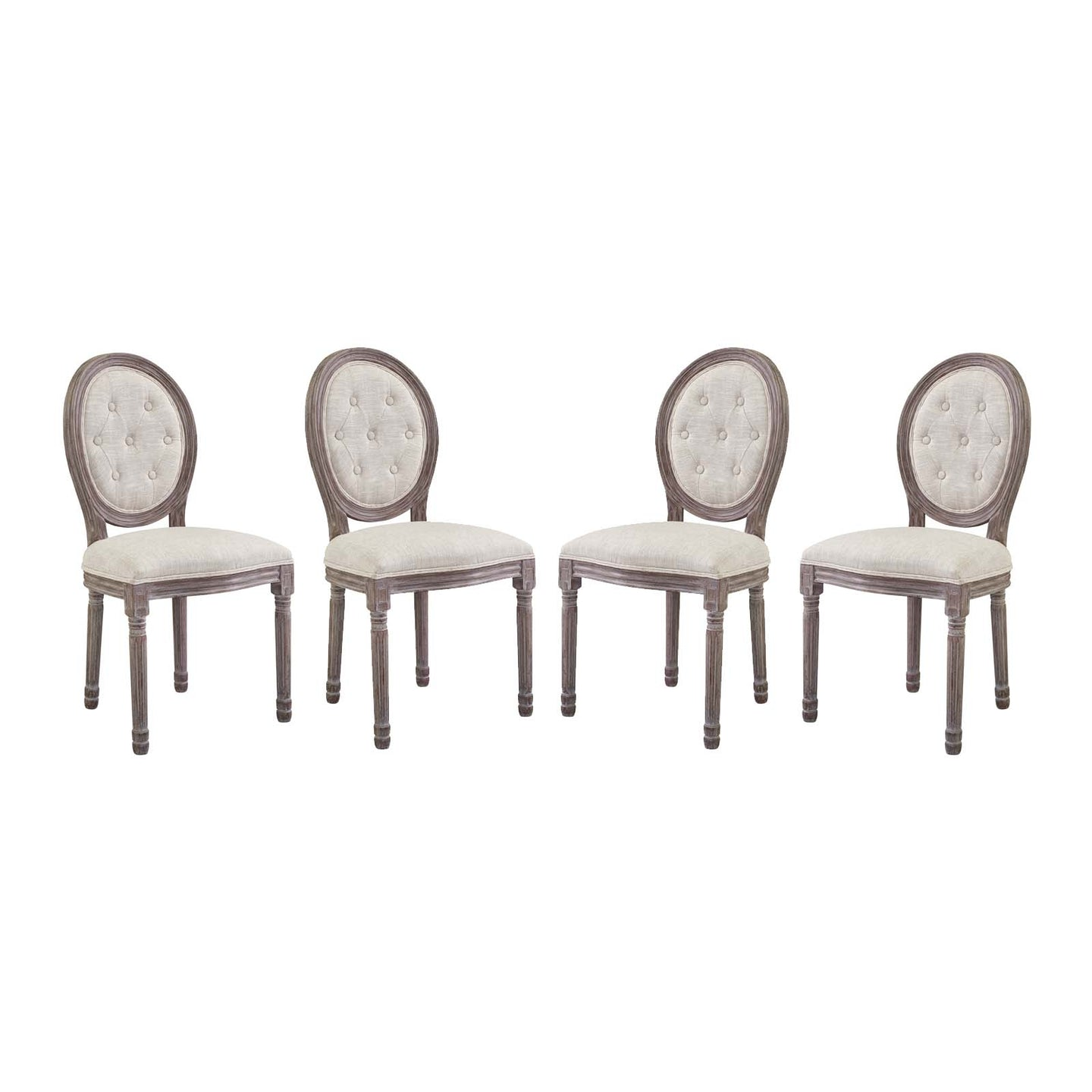 Modway Furniture Modern Arise Dining Side Chair Upholstered Fabric Set of 4 - EEI-3470