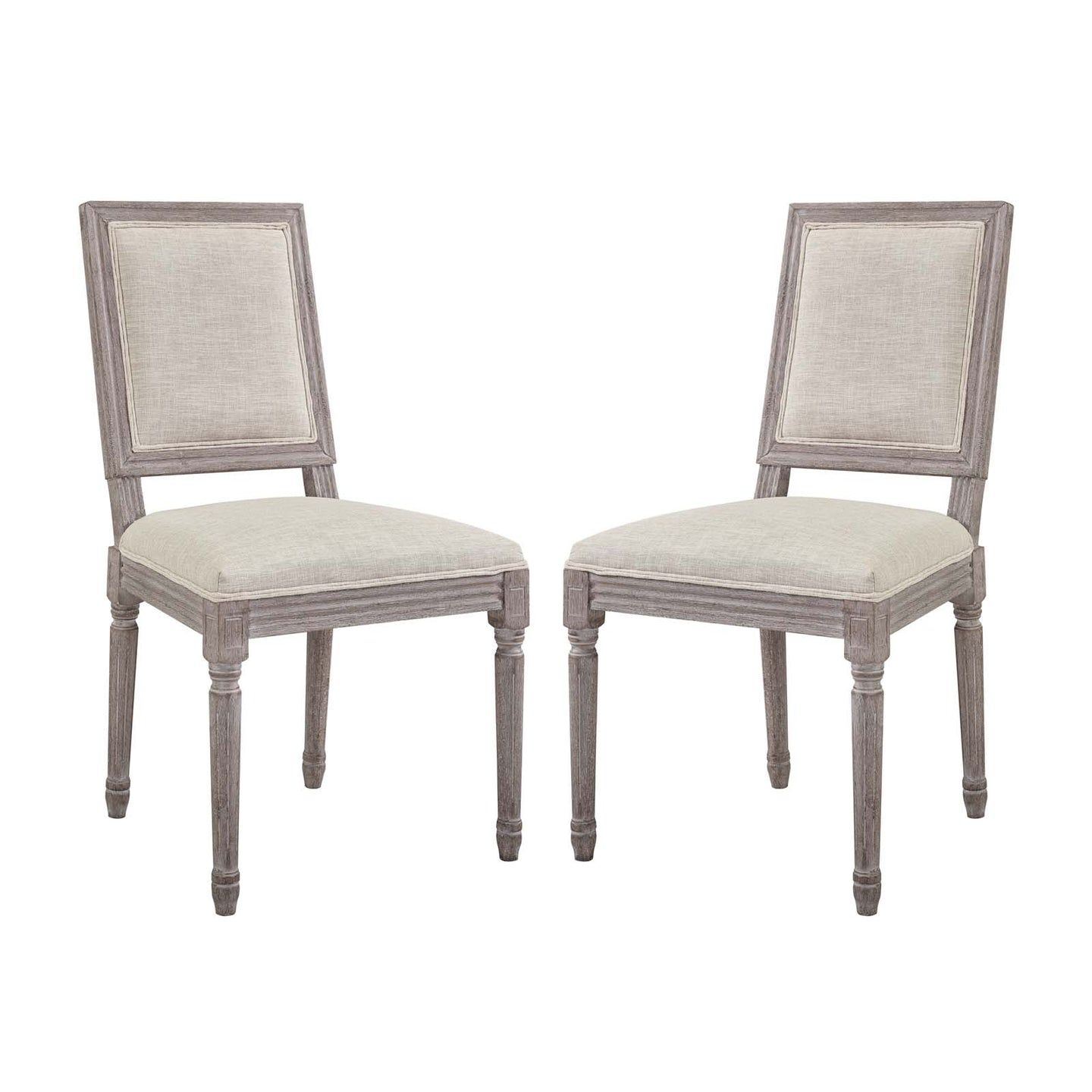 Modway Furniture Modern Court Dining Side Chair Upholstered Fabric Set of 2 - EEI-3500