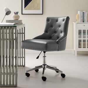 Modway Furniture Modern Regent Tufted Button Swivel Faux Leather Office Chair - EEI-3608