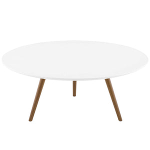 "Modway Furniture Modern Lippa 36"" Round Wood Top Coffee Table with Tripod Base - EEI-3659"