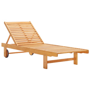 Modway Furniture Modern Hatteras Outdoor Patio Eucalyptus Wood Chaise Lounge Chair - EEI-3677