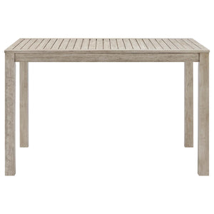 "Modway Furniture Modern Wiscasset 59"" Outdoor Patio Acacia Wood Bar Table - EEI-3686"