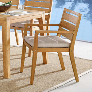 Modway Furniture Modern Portsmouth Karri Wood Outdoor Patio Dining Armchair - EEI-3689