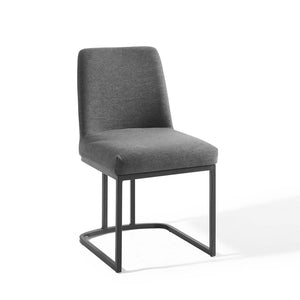 Modway Furniture Modern Amplify Sled Base Upholstered Fabric Dining Side Chair - EEI-3811
