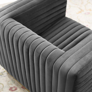 Modway Furniture Modern Charisma Channel Tufted Performance Velvet Accent Armchair - EEI-3887