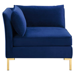 Modway Furniture Modern Ardent Performance Velvet Sectional Sofa Corner Chair - EEI-3985
