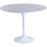 "Modway Furniture Lippa 36"" Marble Modern Dining Table White, dining tables - Modway Furniture, Minimal & Modern - 1"