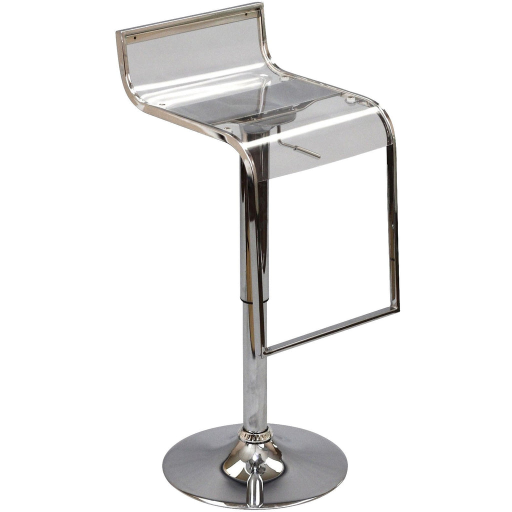 Modway Furniture LEM Acrylic Modern Bar Stool Clear, Bar Stools - Modway Furniture, Minimal & Modern - 1