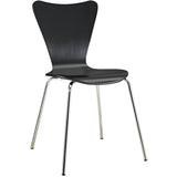 Modway Furniture Ernie Modern Dining Side Chair Black, Dining Chairs - Modway Furniture, Minimal & Modern - 1