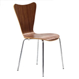 Modway Furniture Ernie Modern Dining Side Chair Walnut, Dining Chairs - Modway Furniture, Minimal & Modern - 8