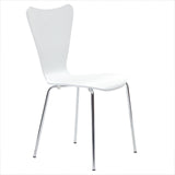 Modway Furniture Ernie Modern Dining Side Chair White, Dining Chairs - Modway Furniture, Minimal & Modern - 12