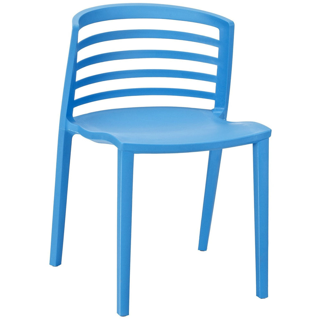 Modway Furniture Curvy Modern Dining Side Chair Blue, Dining Chairs - Modway Furniture, Minimal & Modern - 1