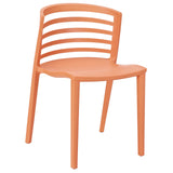 Modway Furniture Curvy Modern Dining Side Chair Orange, Dining Chairs - Modway Furniture, Minimal & Modern - 9