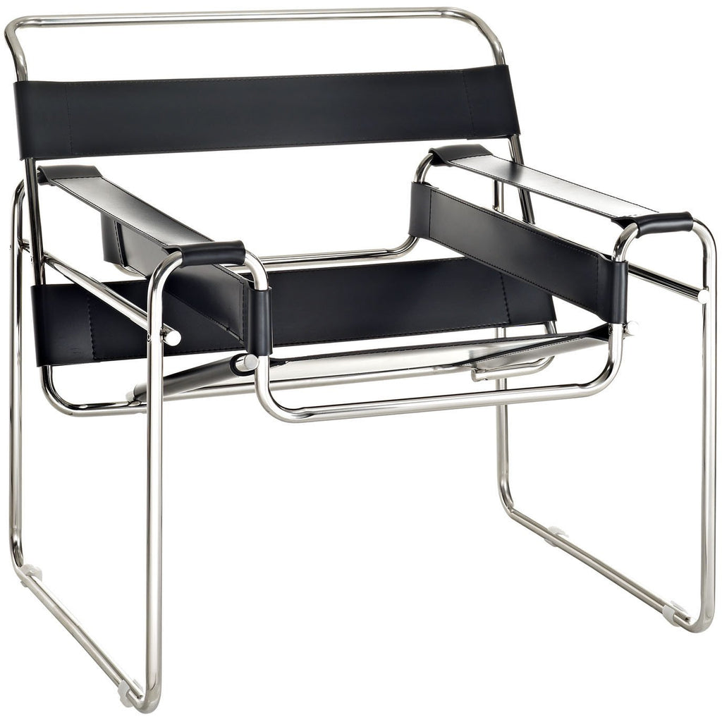 Modway Furniture Modern Slingy Lounge Chair Black, Chairs - Modway Furniture, Minimal & Modern - 1