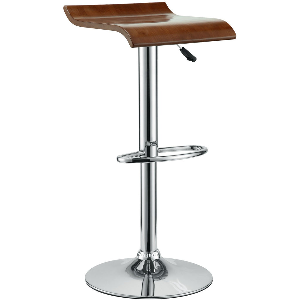 Modway Furniture Bentwood Modern Bar Stool Oak, Bar Stools - Modway Furniture, Minimal & Modern - 1