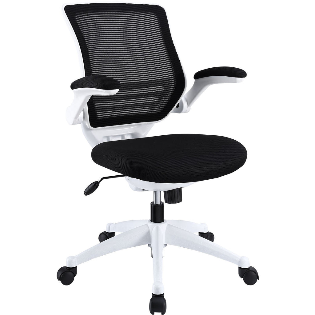 Modway Modern Edge White Base Adjustable Computer Office Chair - Minimal & Modern - 1