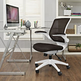 Modway Modern Edge White Base Adjustable Computer Office Chair - Minimal & Modern - 20