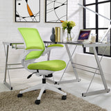 Modway Modern Edge White Base Adjustable Computer Office Chair - Minimal & Modern - 16