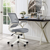 Modway Modern Edge White Base Adjustable Computer Office Chair - Minimal & Modern - 12