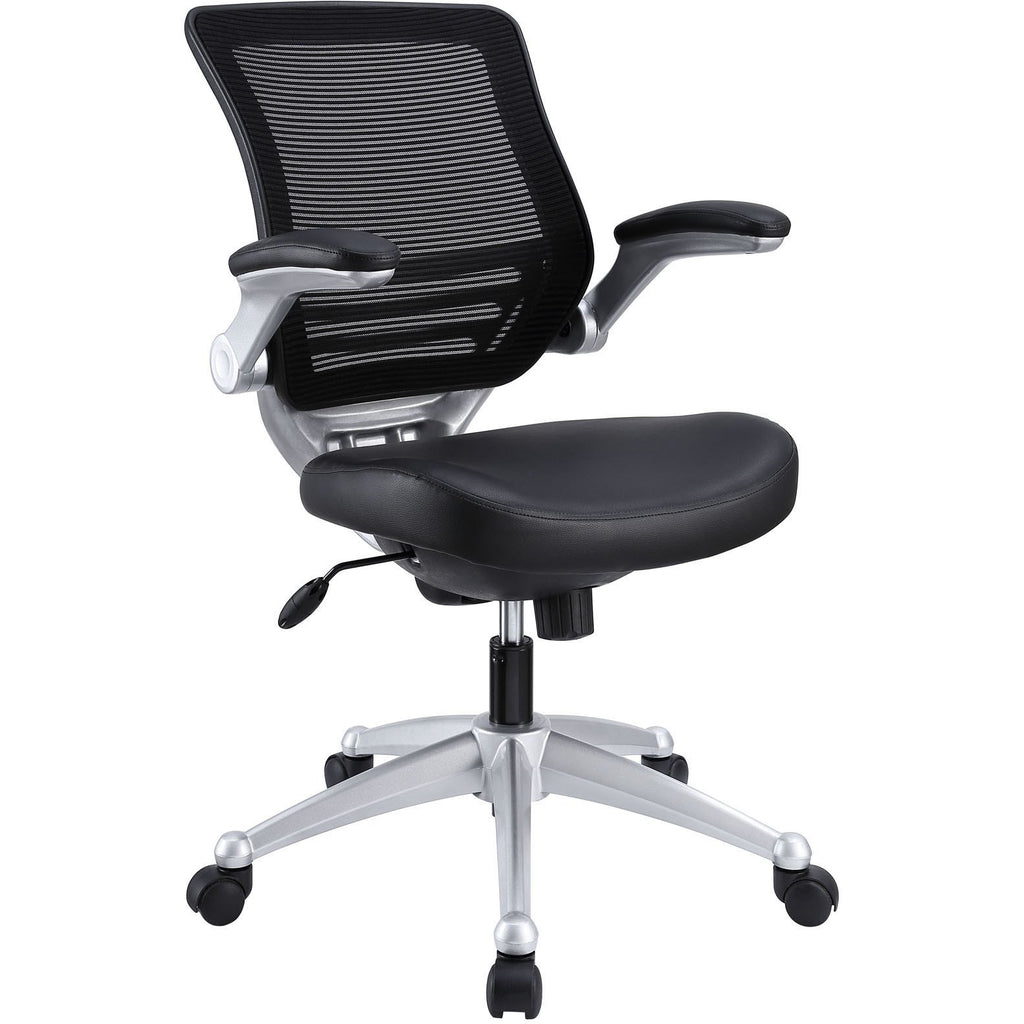 Modway Modern Edge Leather Adjustable Computer Office Chair - Minimal & Modern - 1