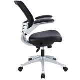 Modway Modern Edge Leather Adjustable Computer Office Chair - Minimal & Modern - 2